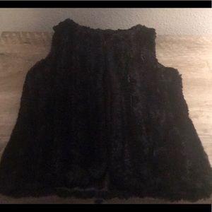🖤Girls Black Faux Fur Vest🖤